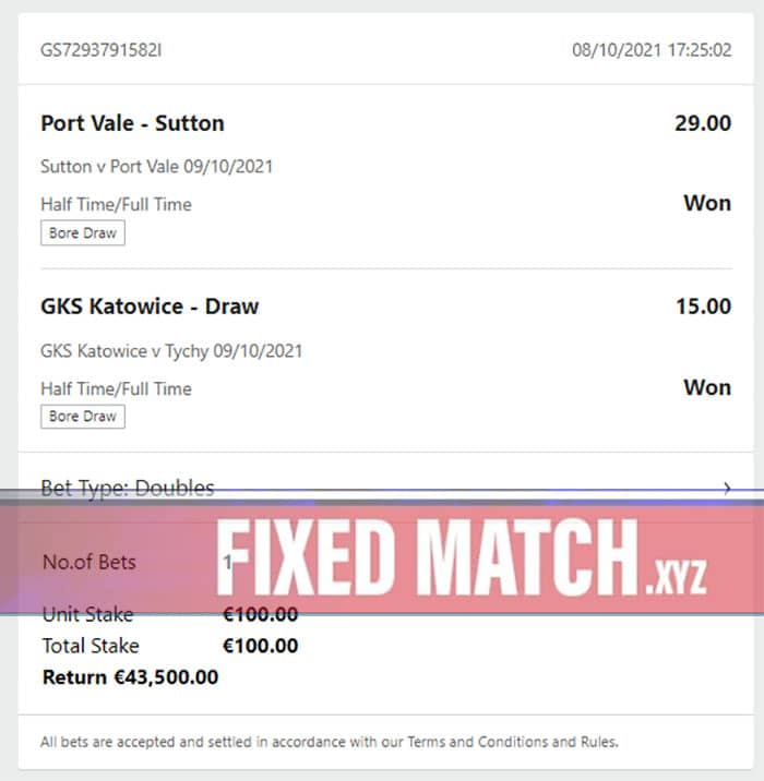 Winning Fixed Matches Today